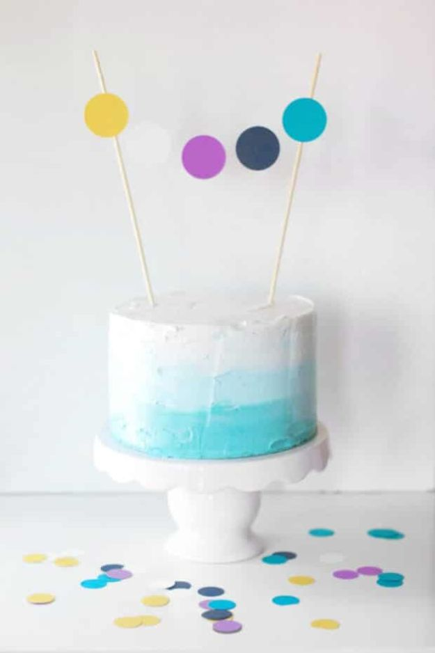 Baby Shower Cakes DIY - Ombre Baby Shower Cake - Easy Cake Recipes and Cupcakes to Make For Babies Showers - Ideas for Boys and Girls, Neutral, for Twins