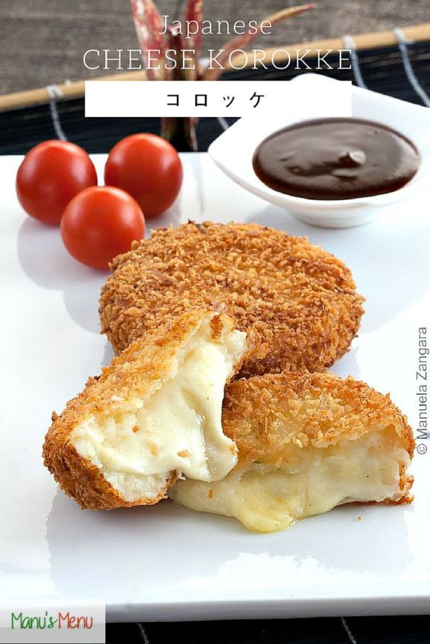 Best Recipes for the Cheese Lover - Japanese Korokke - Easy Recipe Ideas With Cheese - Homemade Appetizers, Dips, Dinners, Snacks, Pasta Dishes, Healthy Lunches and Soups Made With Your Favorite Cheeses - Ricotta, Cheddar, Swiss, Parmesan, Goat Chevre, Mozzarella and Feta Ideas - Grilled, Healthy, Vegan and Vegetarian #cheeserecipes #recipes #recipeideas #cheese #cheeserecipe http://diyjoy.com/best-recipes-cheese-lover
