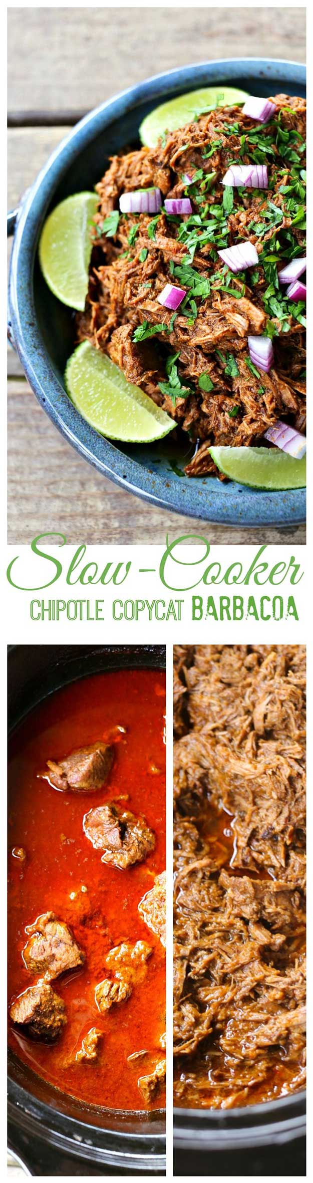 Copycat Recipes From Top Restaurants. Best Recipe Knockoffs from Chipotle, Starbucks, Olive Garden, Cinabbon, Cracker Barrel, Taco Bell, Cheesecake Factory, KFC, Mc Donalds, Red Lobster, Panda Express | Copycat Chipotle Barbacoa Recipe http://diyjoy.com/copycat-recipes