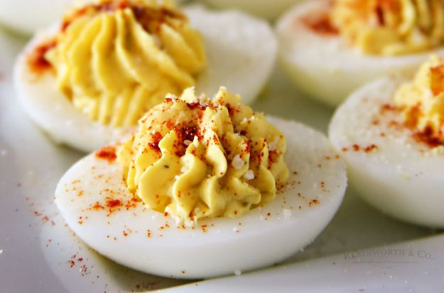 Potluck Recipe Ideas - Traditional Deviled Eggs - Easy Recipes to Take To Potlucks - Dinner Casseroles, Salads, One Pot Meals, Pasta Dishes, Quick Crockpot Recipes