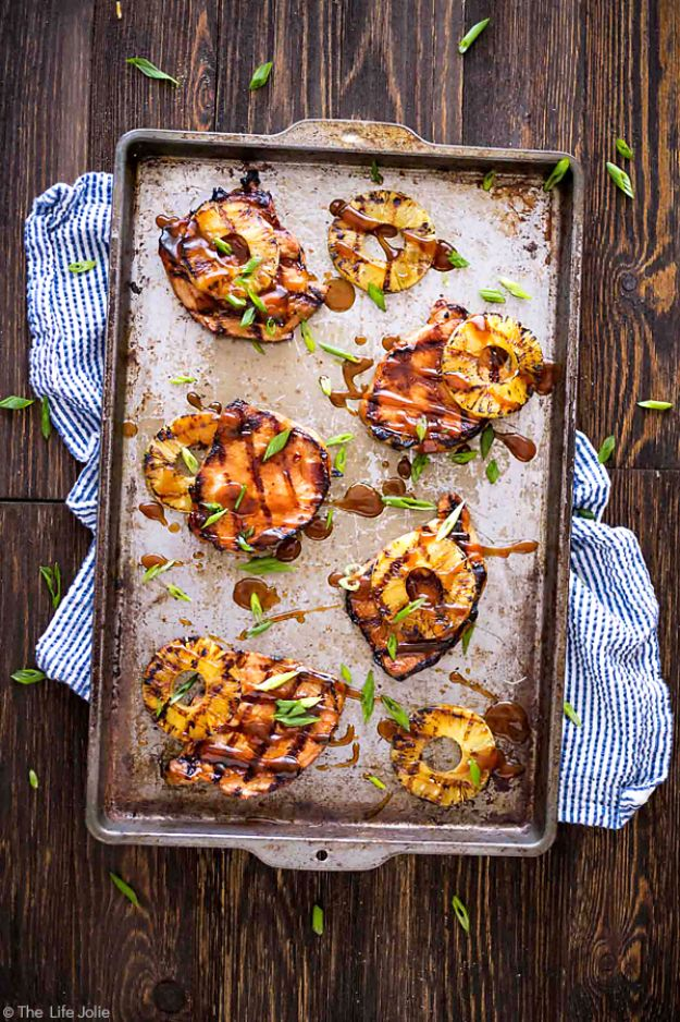 Best Recipe Ideas for Summer - Grilled Hawaiian Pork Chops - Cool Salads, Easy Side Dishes, Recipes for Summer Foods and Dinner to Beat the Heat - Light and Healthy Ideas for Hot Summer Nights, Pool Parties and Picnics http://diyjoy.com/best-recipes-summer