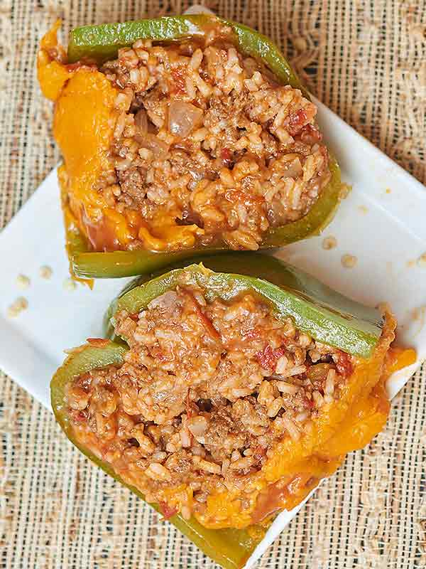 I grew up eating stuffed peppers that were filled with Rice-A-Roni, and although I love that recipe, I