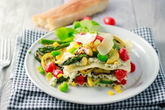 summer veggie lasagna