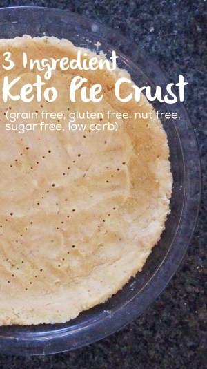 3 Ingredient Low Carb Recipes  Three Ingre nt Keto Pie Crust