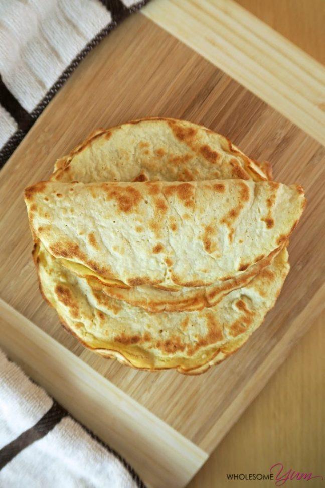 3 Ingredient Low Carb Recipes  3 Ingre nt Coconut Tortillas Paleo Low Carb