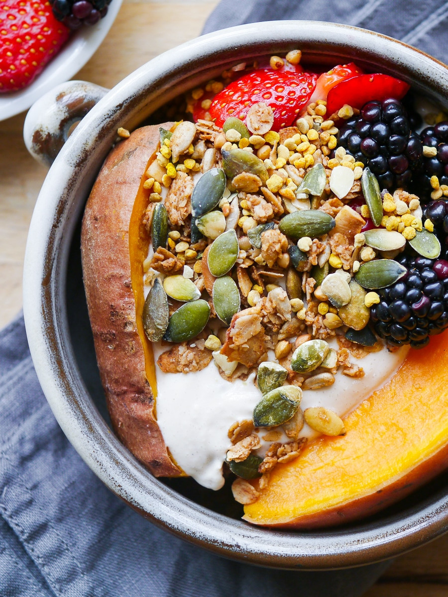 A Healthy Breakfast  Sweet Potato Breakfast Bowl with Berries