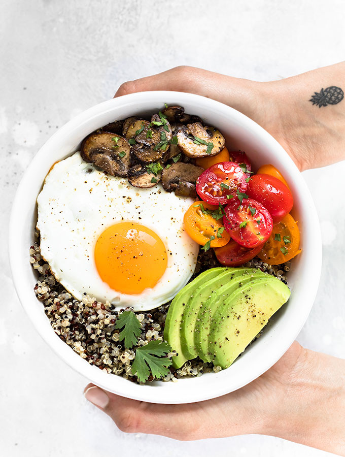 A Healthy Breakfast  Healthy Breakfast Bowl with Egg and Quinoa As Easy As