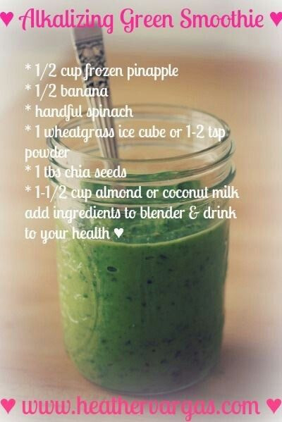 Alkaline Smoothies For Weight Loss  1333 best images about Alkaline Diet & Recipes on
