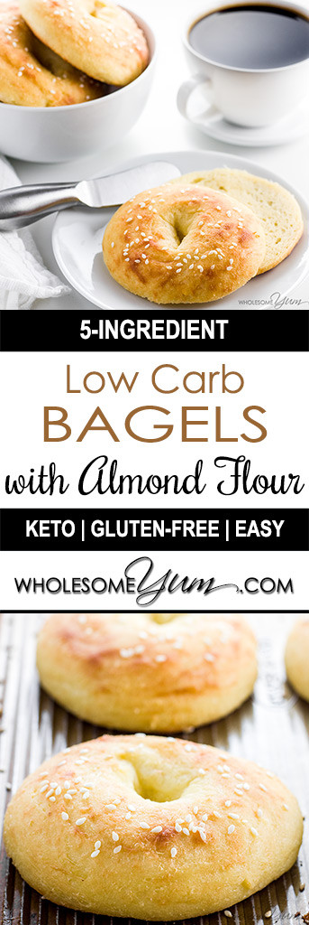 Almond Flour Recipes Low Carb  Keto Low Carb Bagels Recipe with Fathead Dough Gluten Free