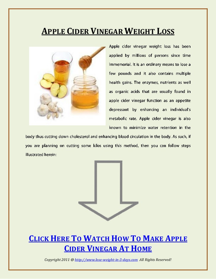Apple Cider Vinegar Recipes For Weight Loss  how to use apple cider vinegar for weight loss