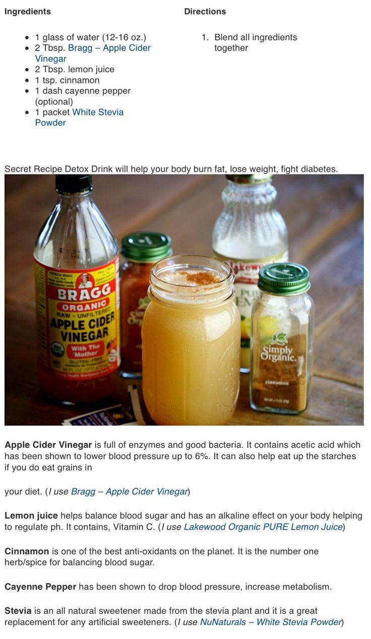 Apple Cider Vinegar Recipes For Weight Loss  Detox recipe Natural detox Healthy Me