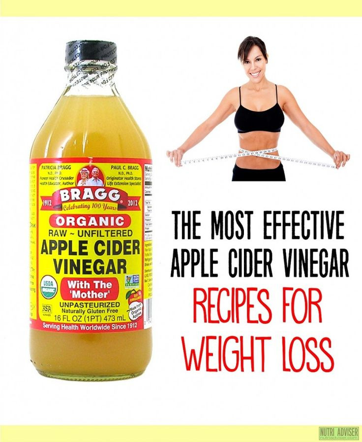 Apple Cider Vinegar Recipes For Weight Loss  519 best images about Beauty Diet & Exercise Tips on