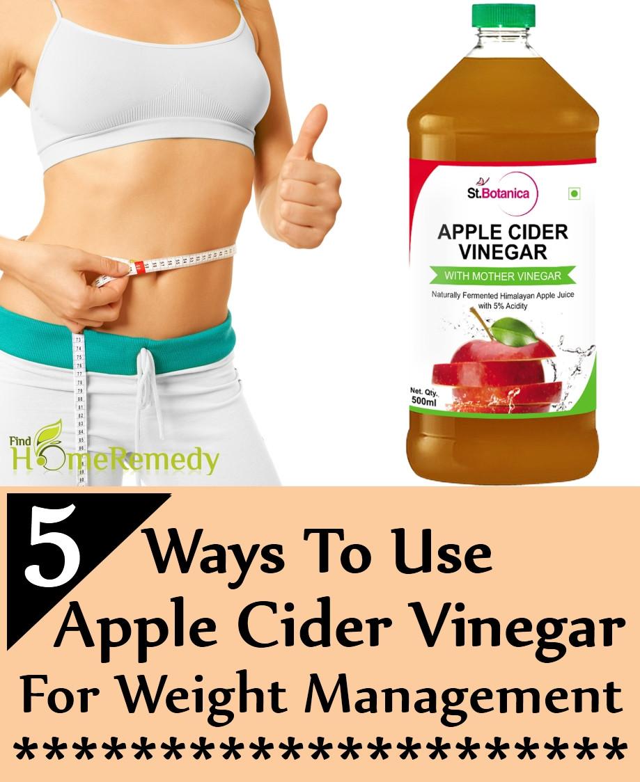 Apple Cider Vinegar Weight Loss  5 Ways To Use Apple Cider Vinegar For Weight Management