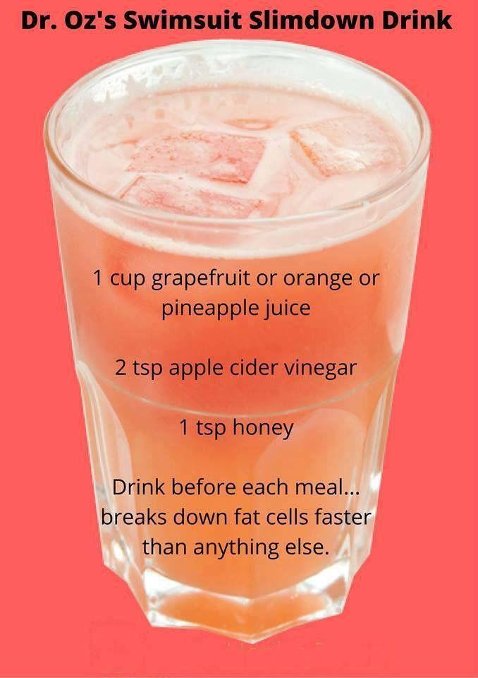 Apple Cider Vinegar Weight Loss Dr Oz  Dr oz slim down drink 5