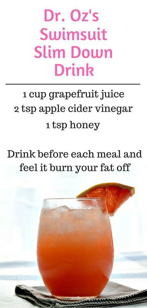 Apple Cider Vinegar Weight Loss Dr Oz  Best 25 Slim Down Drink ideas that you will like on