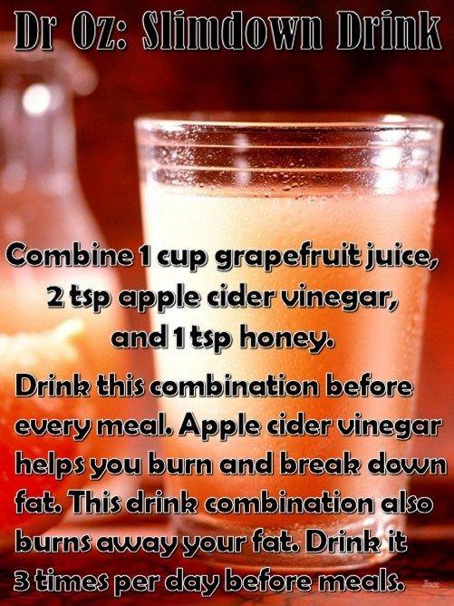 Apple Cider Vinegar Weight Loss Dr Oz  Apples Apple cider and Peeps on Pinterest