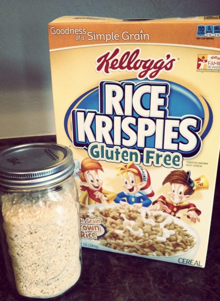 Are Bread Crumbs Gluten Free  gluten free bread crumbs using gluten free rice krispies