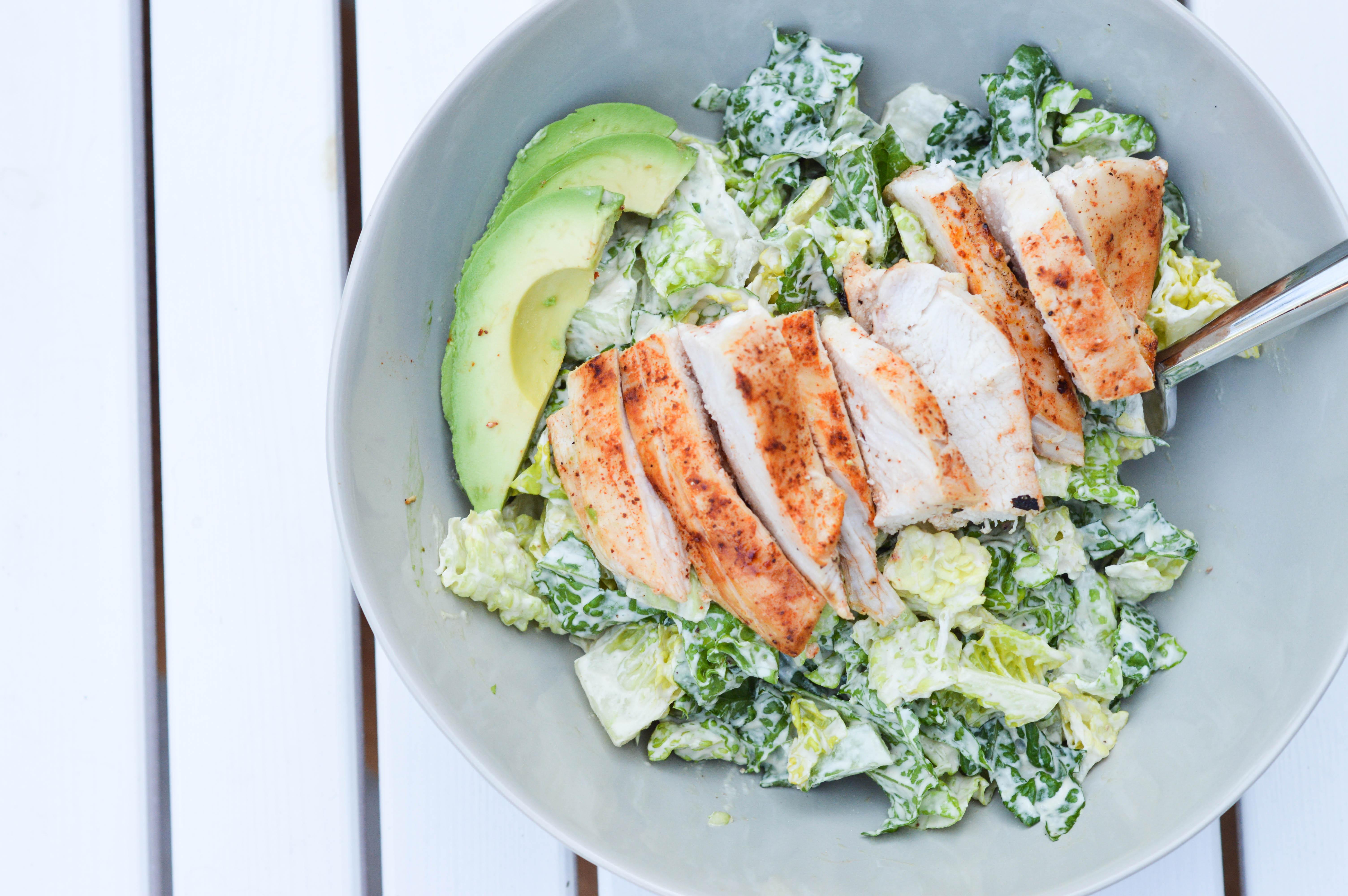 Are Caesar Salads Healthy  Grilled Chicken & Avocado Caesar Salad My Foolproof
