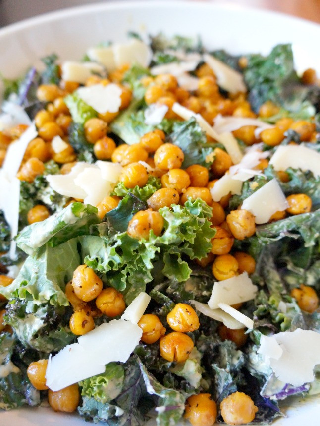Are Caesar Salads Healthy  Kale Caesar Salad with Roasted Chickpeas Tomato Boots