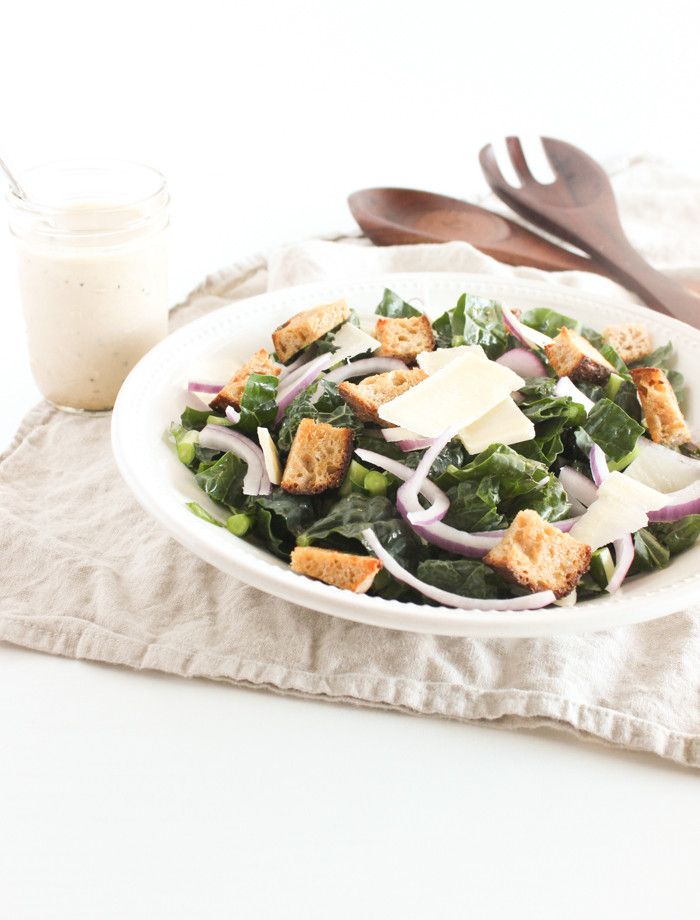 Are Caesar Salads Healthy  Healthy Kale Caesar Salad Lively Table