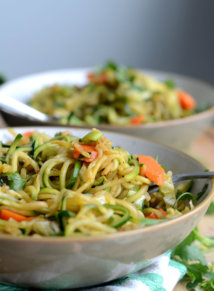 Are Chow Mein Noodles Vegan  Zucchini Noodle Low Carb Vegan Chow Mein Quick & Easy