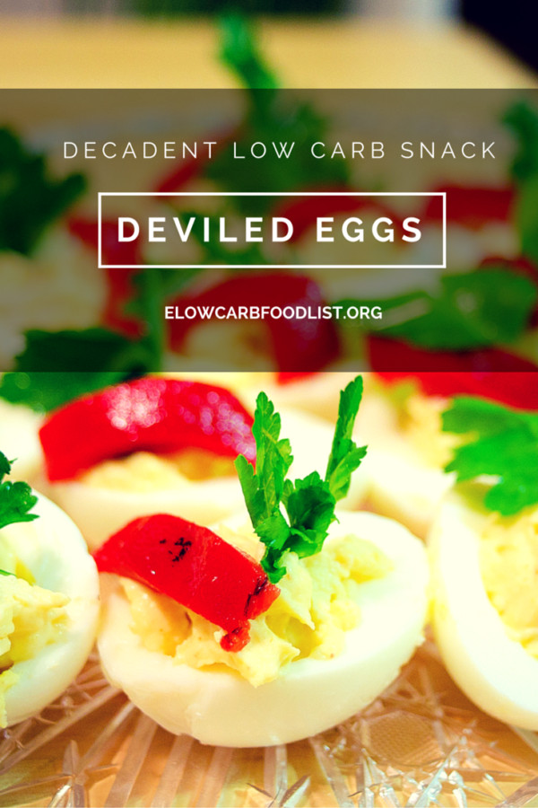 Are Deviled Eggs Low Carb  Decadent Deviled Eggs Recipe low carb Low carb food list
