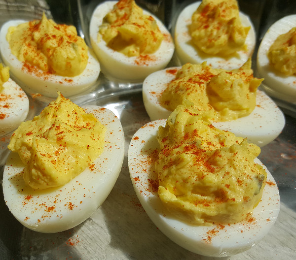 Are Deviled Eggs Low Carb  Day 35 Low Carb Cookout & Week 5 Weigh In