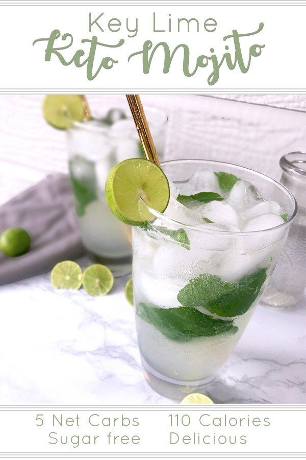 Are Limes Ok On Keto Diet  Key Lime Keto Mojito Ketogenic Diet Pinterest