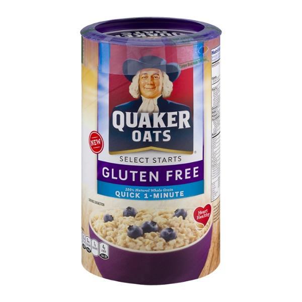 Are Quaker Old Fashioned Oats Gluten Free  Quaker Oats Gluten Free Quick 1 Minute Oats