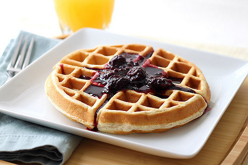 Are Waffles Healthy  Tasty and Heart Healthy Waffles with Blackberry Syrup