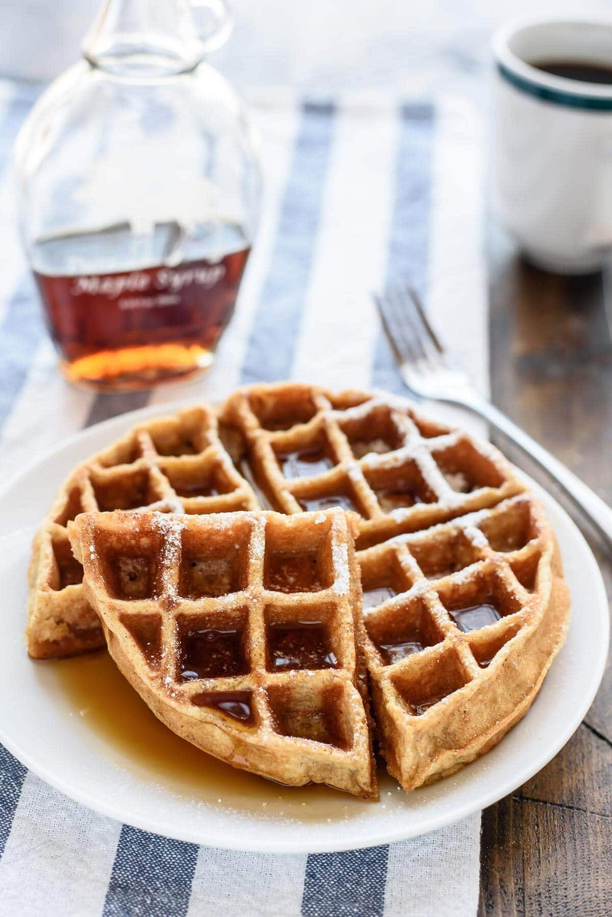 Are Waffles Healthy  The BEST Healthy Pumpkin Pancakes Made EASY in the Blender