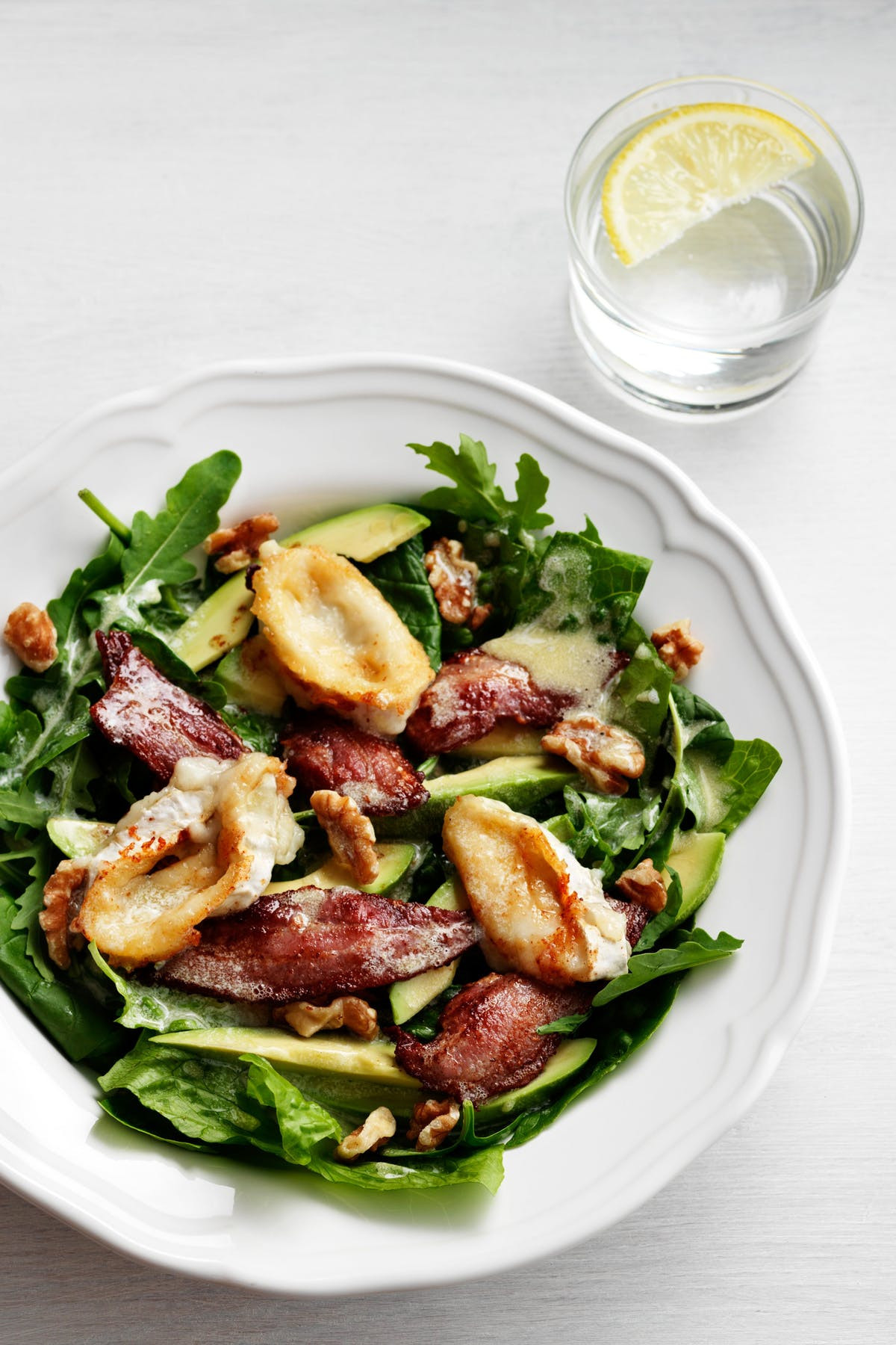 Avocado Keto Diet  Keto Avocado Bacon and Goat Cheese Salad Diet Doctor
