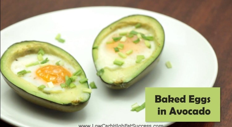 Avocado Keto Diet  Baked Eggs in Avocado Low Carb Ketogenic Diet Recipe Low