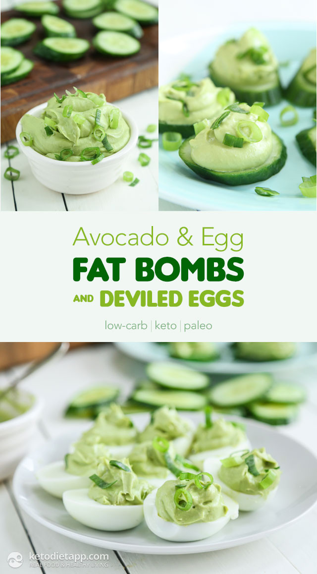 Avocado Keto Diet  Avocado & Egg Fat Bombs and Deviled Eggs