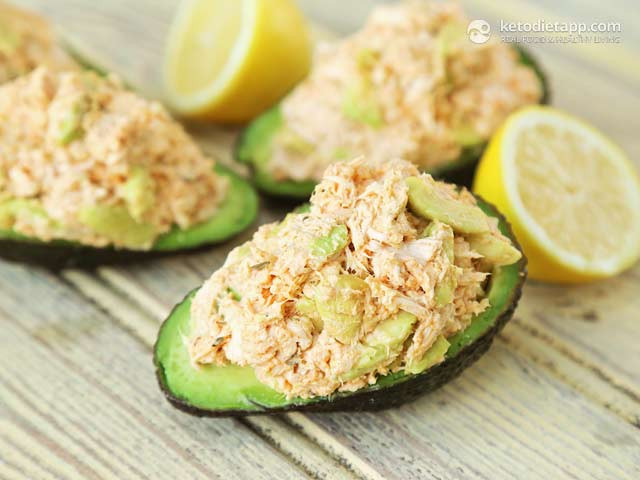 Avocado Keto Diet  Cajun Chicken Stuffed Avocado