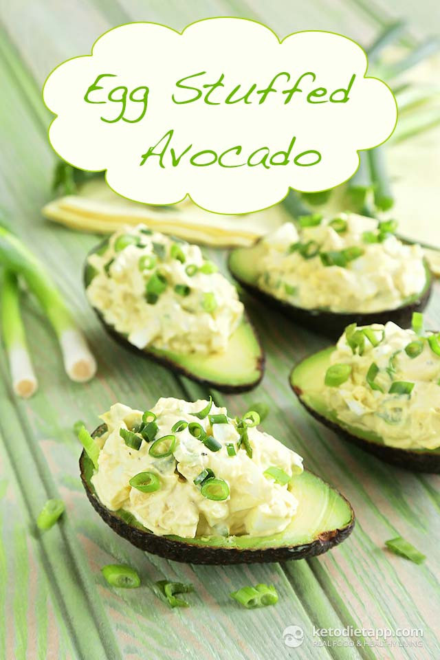 Avocado Keto Diet  Low Carb Egg Stuffed Avocado