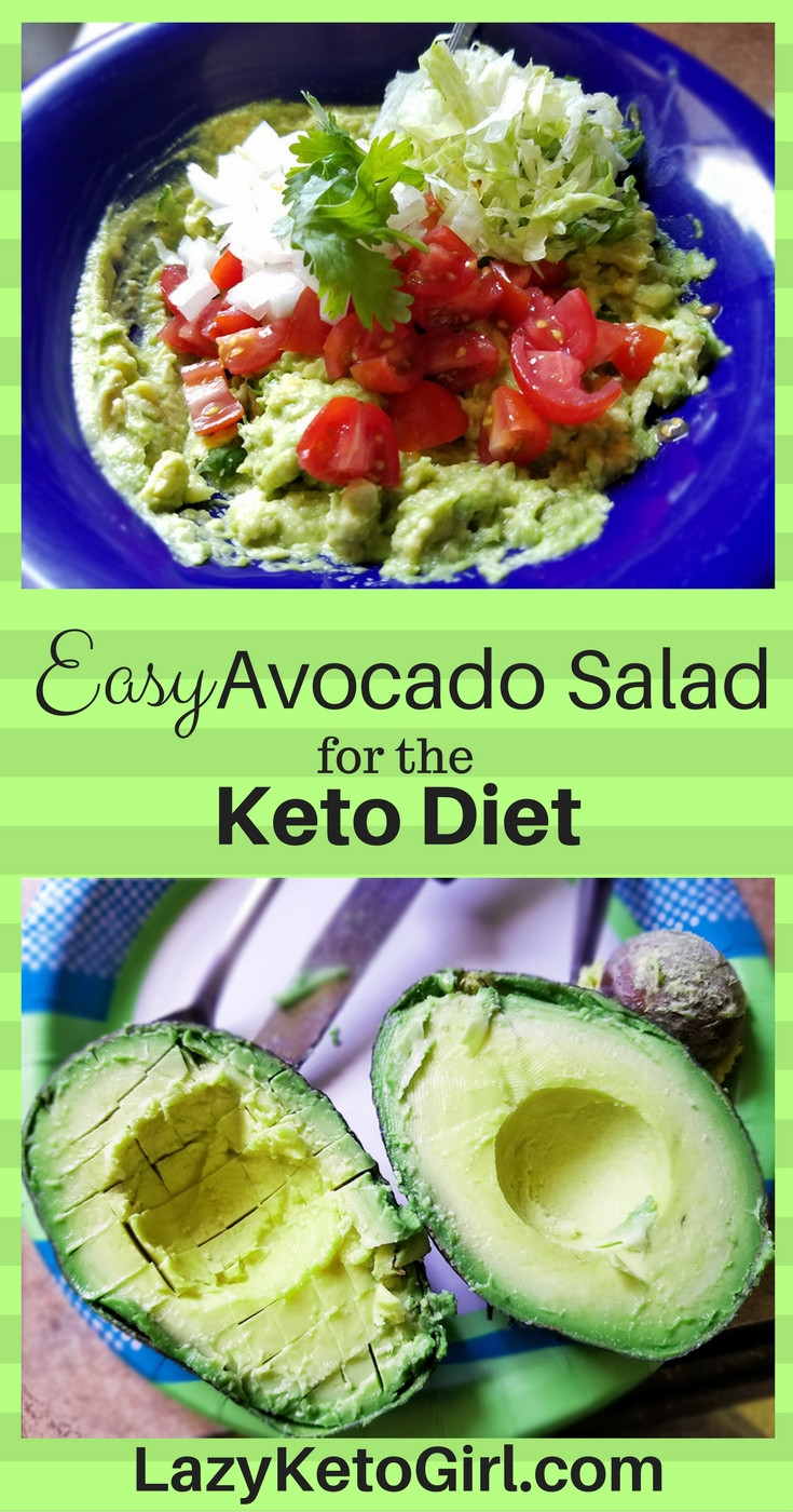 Avocado Keto Diet  Easy Avocado Salad for the Keto Diet Lazy Keto Girl