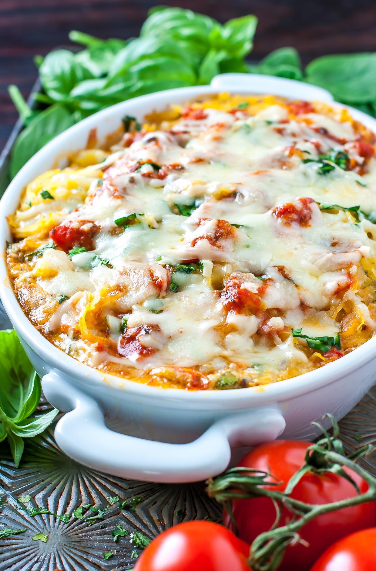Bake Vegetarian Recipes  healthy baked spaghetti squash casserole