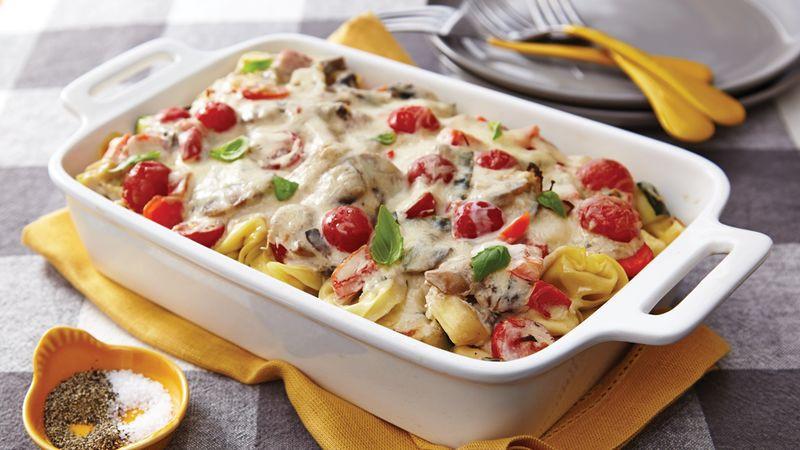 Bake Vegetarian Recipes  Veggie Tortellini Casserole Recipe Tablespoon