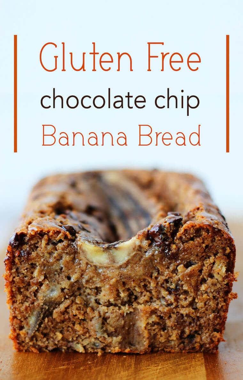Banana Bread Dairy Free  Gluten Free Chocolate Chip Banana Bread