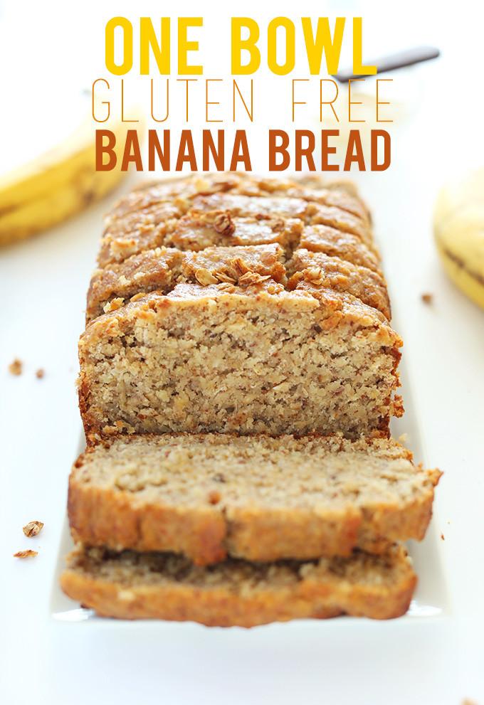 Banana Bread Dairy Free  1 Bowl Gluten Free Banana Bread