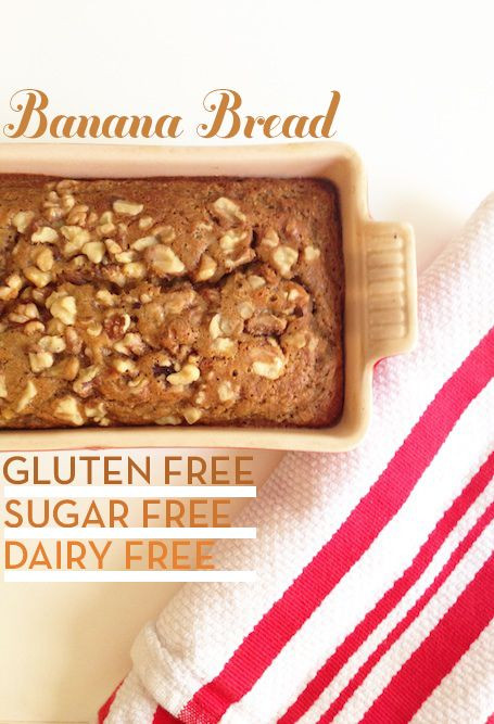 Banana Bread Dairy Free  gluten free dairy free refined sugar free banana bread