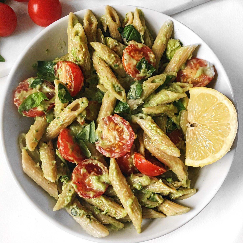 Basil Recipes Vegan  Quick and Easy Basil Avocado Pasta