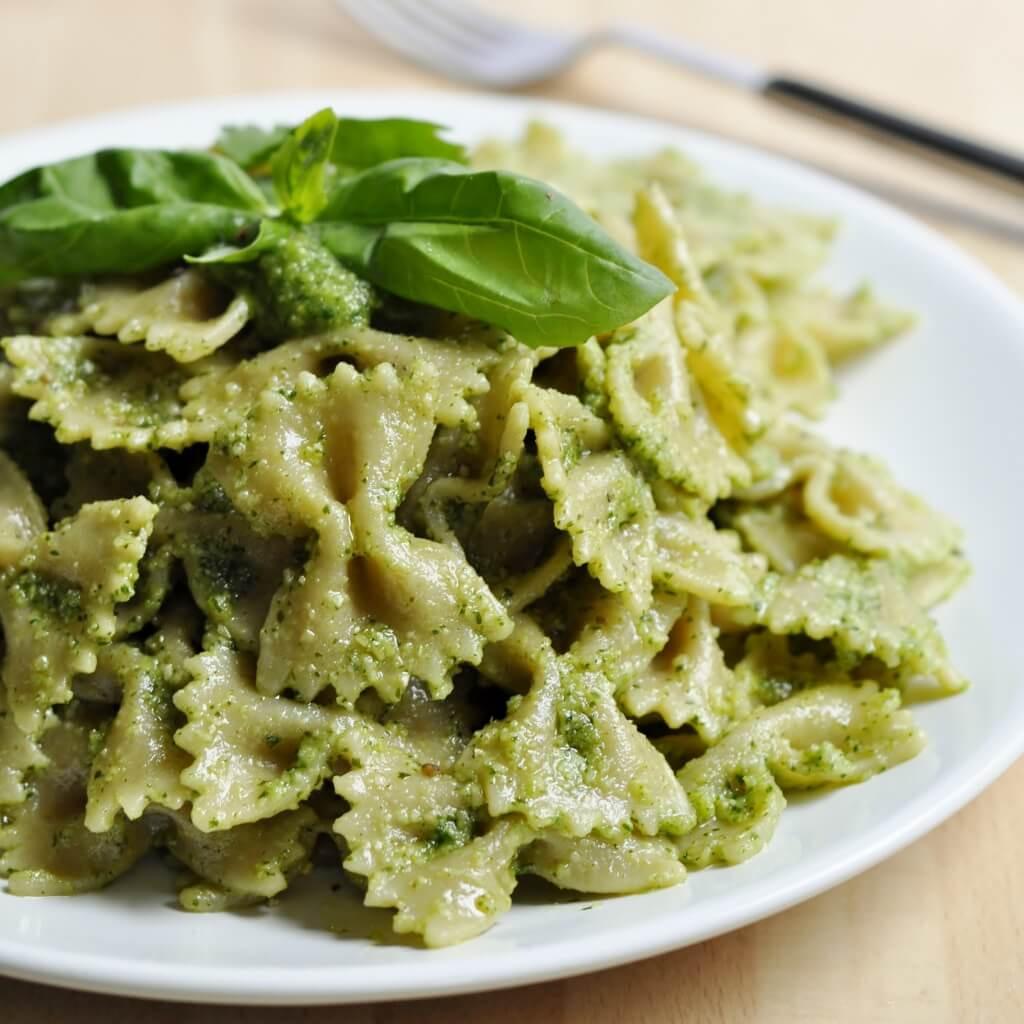 Basil Recipes Vegan  Cilantro Basil Pesto Pasta Vegan Family Recipes