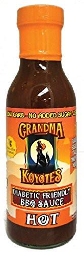 Bbq Sauce For Diabetics  Grandma Koyote s Diabetic Friendly Hot Barbecue Sauce 15