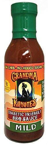 Bbq Sauce For Diabetics  Grandma Koyote s Diabetic Friendly Mild Barbecue Sauce 15