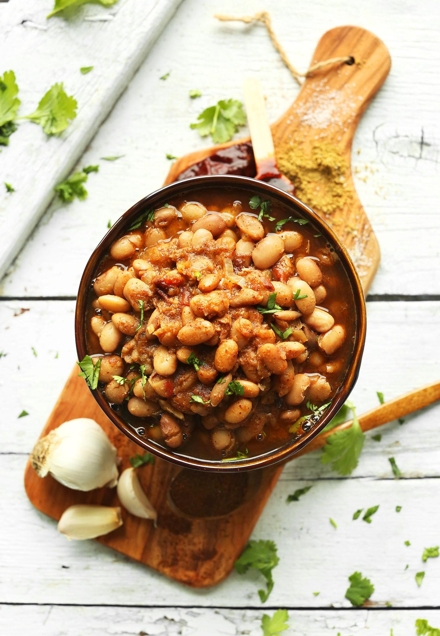 Bean Recipes Vegan  Mexican Pinto Beans