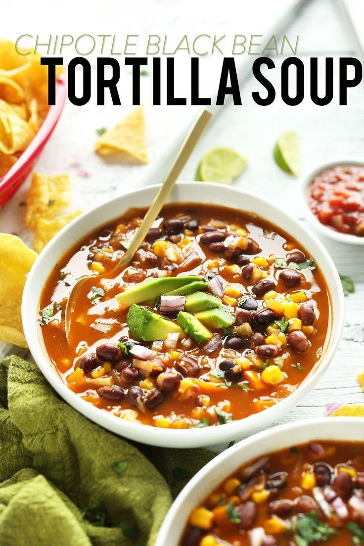 Bean Recipes Vegan  1000 ideas about Mexican Tortilla Soup on Pinterest