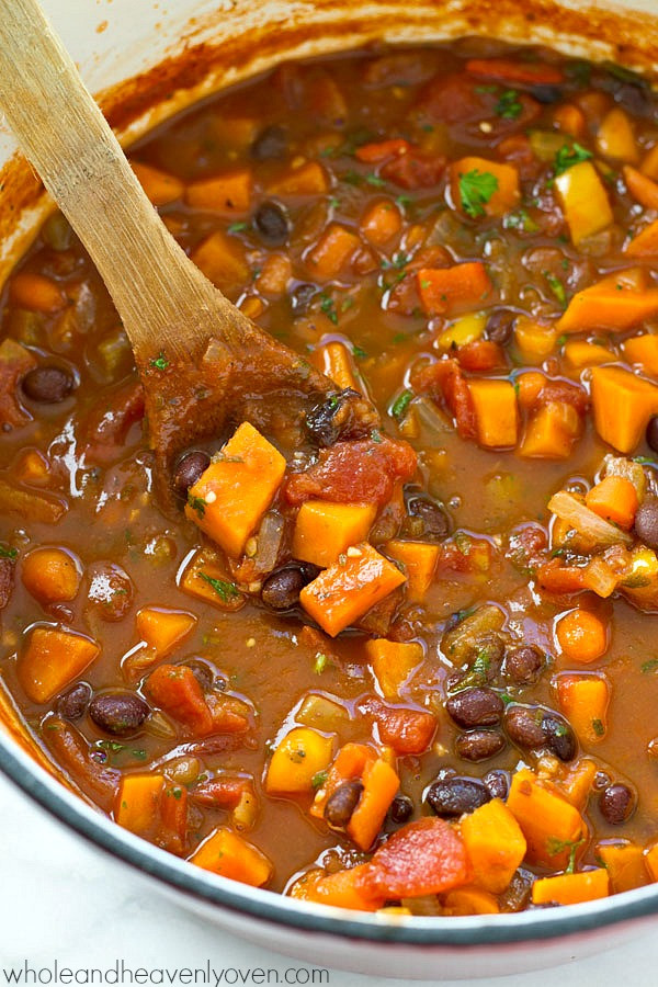 Best Canned Vegetarian Chili  30 Minute Ve arian Chili Whole and Heavenly Oven