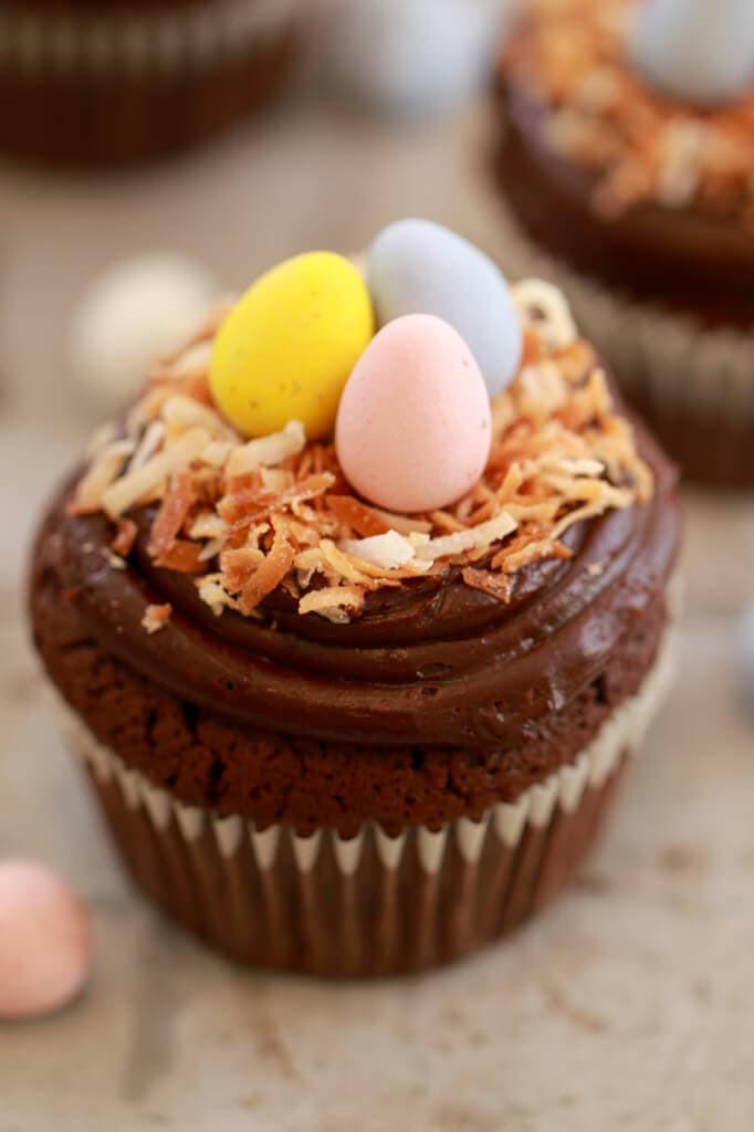 Best Easter Desserts Ever  Flourless Chocolate Cupcakes Small Batch Cupcakes for